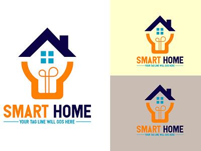 Smart Home Logo branding logo motion graphics graphic design 3d