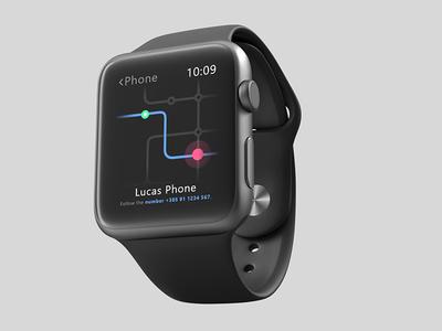 Daily UI #020 Location Tracker location tracker smartwatch dailyui daily 100 challenge userinterfaces ui design user interface