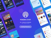 Podcast App UI KIT | Coming Tomorrow