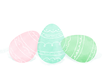 Just some eggs... eggs easter illustration watercolor spring