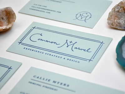 Common Marvel Final Logo strategy ux business card type star naming minneapolis marvel m logo common c