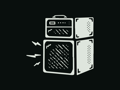 Ride Slow | Lil' Amp Sketch metal punk rock n roll sound music amplifier amp drawing procreate illustration sketch