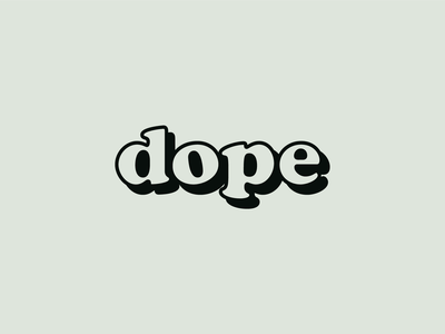 Ride Slow   Dope typeface. lettering typeface font classic simple cooper black retro typography type dope