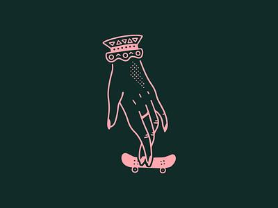 Ride Slow | Yeah, I Skate simple skateboard procreate illustration sketch drawing hand skateboarding skate fingerboard tech deck