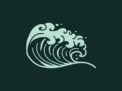 Ride Slow | Ride the Tide simple tide beach procreate drawing sketch illustration ocean water surfing surf wave