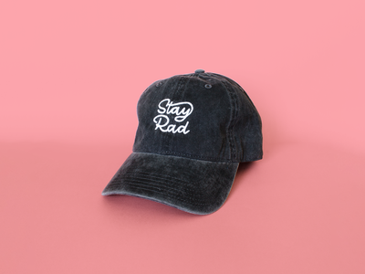 Ride Slow | Stay Rad Dad Hat logo hat design stay rad apparel fashion style typography type script lettering dad hat hat