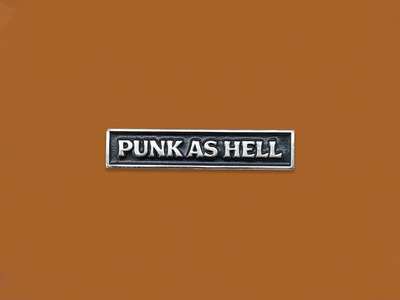 Ride Slow | Punk as Hell Pin retro modern style rock n roll simple pin enamel pin punk rock typography type punk