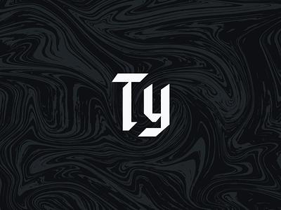 Personal Brand   Monogram personal brand branding brand pattern liquid marble blackletter typography type logo design logo monogram t y