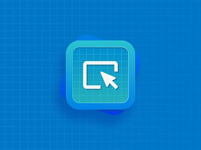 Content Tile   Hands-on Learning icon gradient 3d dimension neomorphism neumorphism illustrator illustration blue cool grid figma