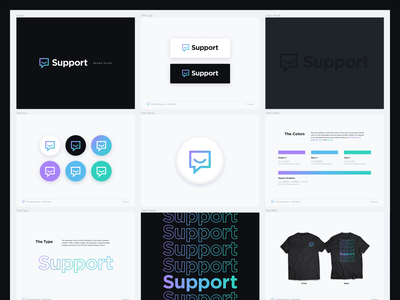 Pluralsight | Support Brand Guide iconography layout gradient palette typography type icon logo branding brand figma brand guide