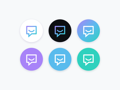 Pluralsight | Support Icons logo branding brand support chat bubble emoji smiley simple palette gradient iconography icon