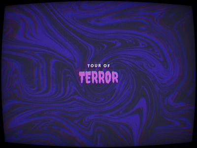Tour of Terror   Announcement logo animation typography type october halloween horror 2020 challenge inktober spooky tour of terror
