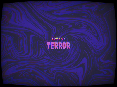 Tour of Terror | Announcement logo animation typography type october halloween horror 2020 challenge inktober spooky tour of terror