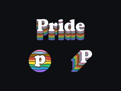 Pride Crumbs wordmark branding brand logo logotype monogram typography type rainbow lgbtq lgbt pride