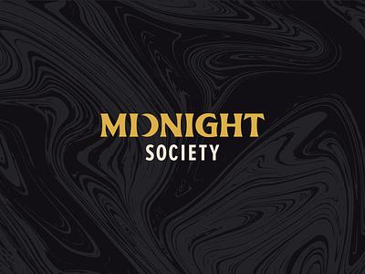 Midnight Society   Logo typography type spooky scary marble midnight moon horror branding brand logotype logo