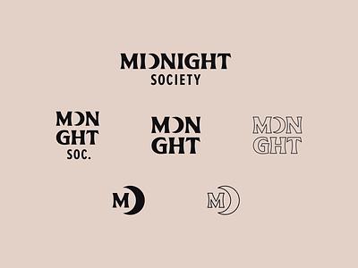 Midnight Society | Logo System branding typography type spooky scary horror system responsive monogram wordmark logotype logo