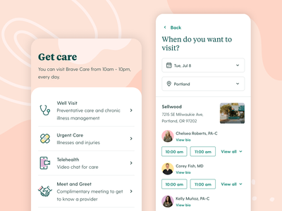 Parent App | Get Care branding web design ux iconography typography pediatric care medical scheduling healthcare mobile app interface ui