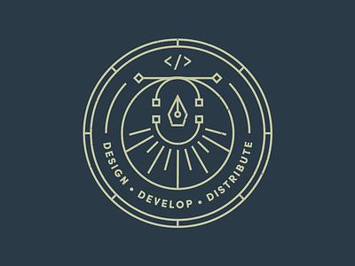 Shipyard | Badge Design line badge brand branding color geometric logo vector code icon pattern