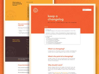 Keep A Changelog | Landing Page