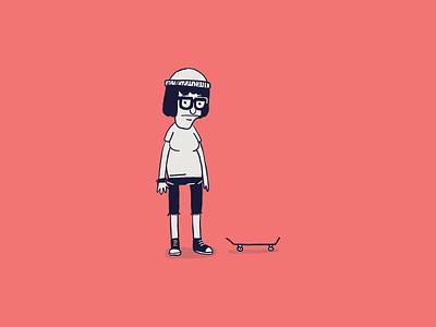Cartoon Skate Punks | Tina Belcher skateboard skate color butts drawing draw sketch illustration illustrator cartoon tina belcher bobs burgers