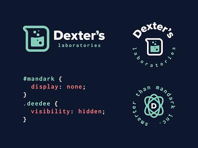 Cartoon Rebrand | Dexter's Laboratory dexters lab code typography type badge logo beaker science color cartoon branding brand