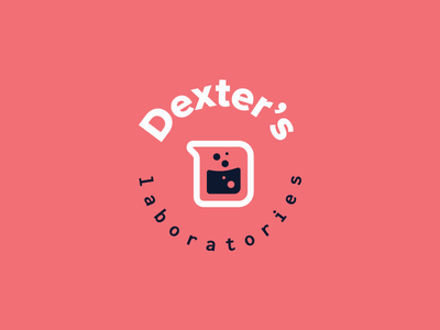 Cartoon Rebrand | Dexter's Lab Badge dexters lab 90s color science typography type monogram logo badge branding cartoon brand