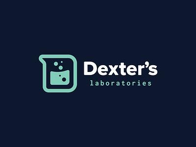 Cartoon Rebrand | Dexter's Laboratories Logo dexters lab code typography type d beaker logo science color cartoon branding brand