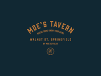Cartoon Rebrand | Moe's Tavern Badge