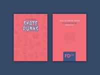 Cartoon Skate Punks   Sticker Pack Backer Card