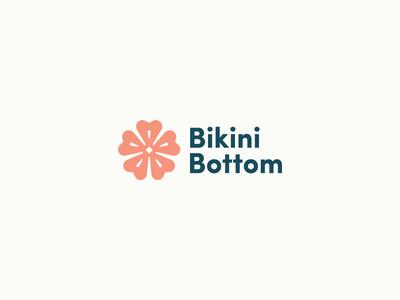 Cartoon Rebrand   Bikini Bottom Logo tropical ocean nickelodeon flower spongebob typography type logo color cartoon branding brand