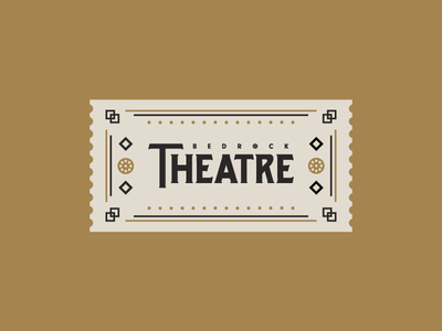 Cartoon Rebrand | Bedrock Theatre Ticket