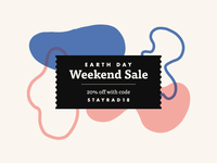 Earth Day | Weekend Sale