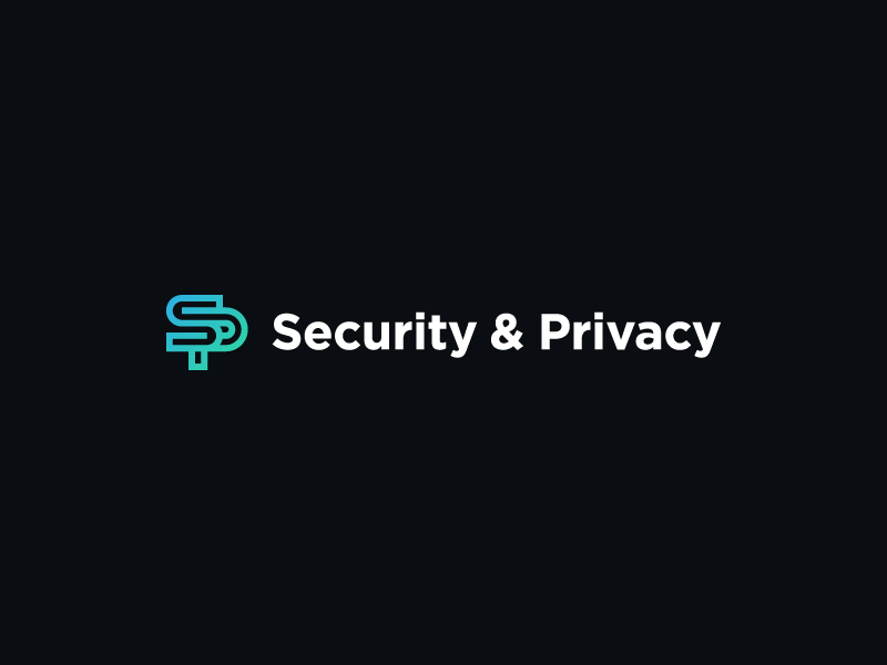 Security & Privacy | Logo gradient typography type branding brand logo monogram sp tech privacy security pluralsight