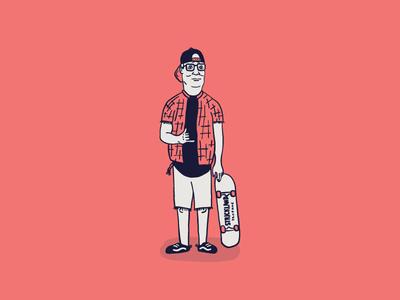 Cartoon Skate Punks | Hank Hill