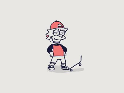 Cartoon Skate Punks | Lisa Simpson