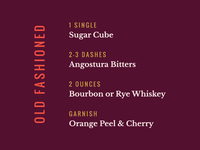 Spirits & Type   Old Fashioned