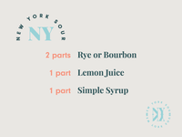 Spirits & Type   New York Sour