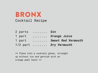 Spirits & Type   The Bronx