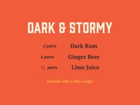 Spirits & Type   Dark & Stormy