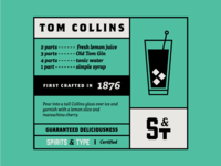 Spirits & Type | Tom Collins