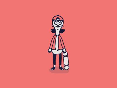 Cartoon Skate Punks | Louise Belcher