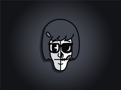 The Skeletoons | Tina Belcher retro 30s lowbrow cartoon illustration sketch draw avatar cartoon skeleton skull bobs burgers tina belcher