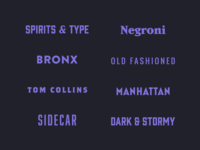 2018 Recap | Spirits & Type Wordmarks