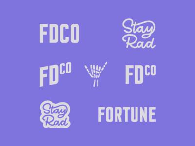 Personal Brand | Refresh rebrand personal brand wordmark logo script rad skull shaka typography type branding brand