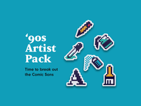 '90s Artist | Sticker Pack