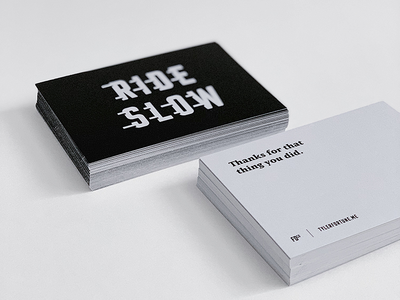 Ride Slow | Thank You Cards