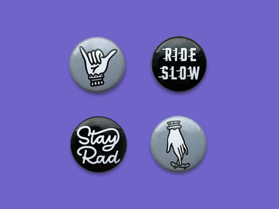 The Rad Pack | Buttons