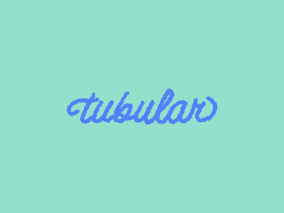 Lingo Type | Tubular green blue cursive waves surfing surf script hand lettering lettering typography type tubular