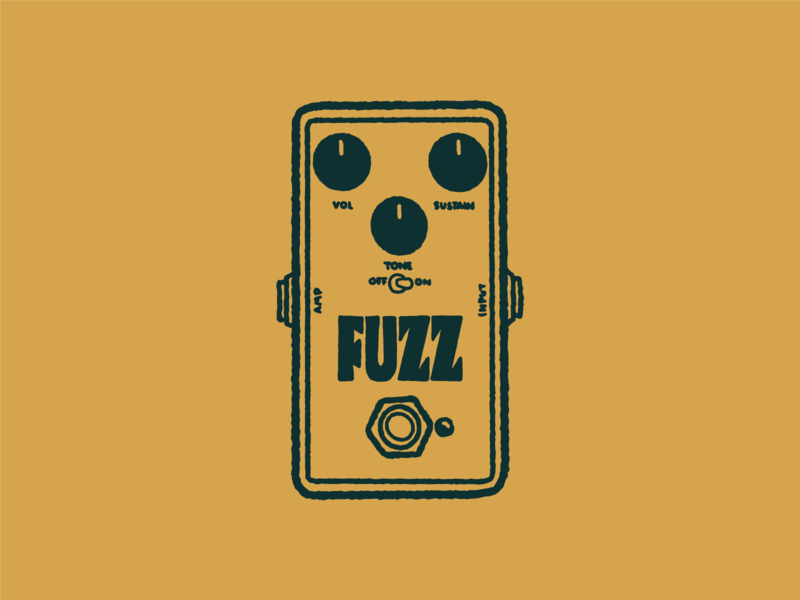 Type Effect | Fuzz musician vintage retro lettering drawing illustration sketch typography type distortion pedal music fuzz