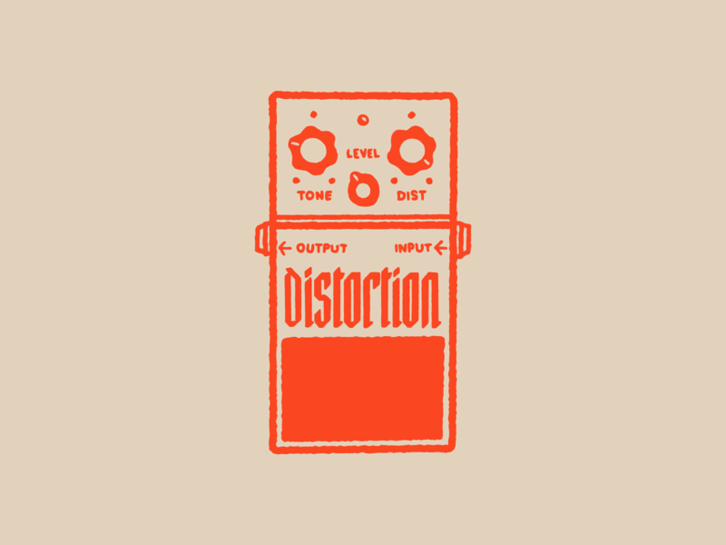 Type Effect | Distortion lettering typography type punk orange drawing sketch illustration music metal rock distortion pedal